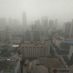 Smog, Xi'an city, Shaanxi province, China