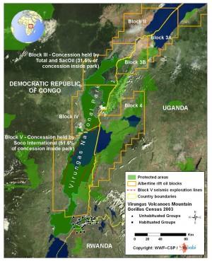 Virunga Mapa Koncesji